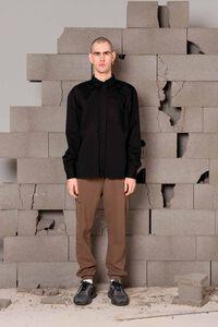 Boxy shirt M-120040, BLACK TWILL