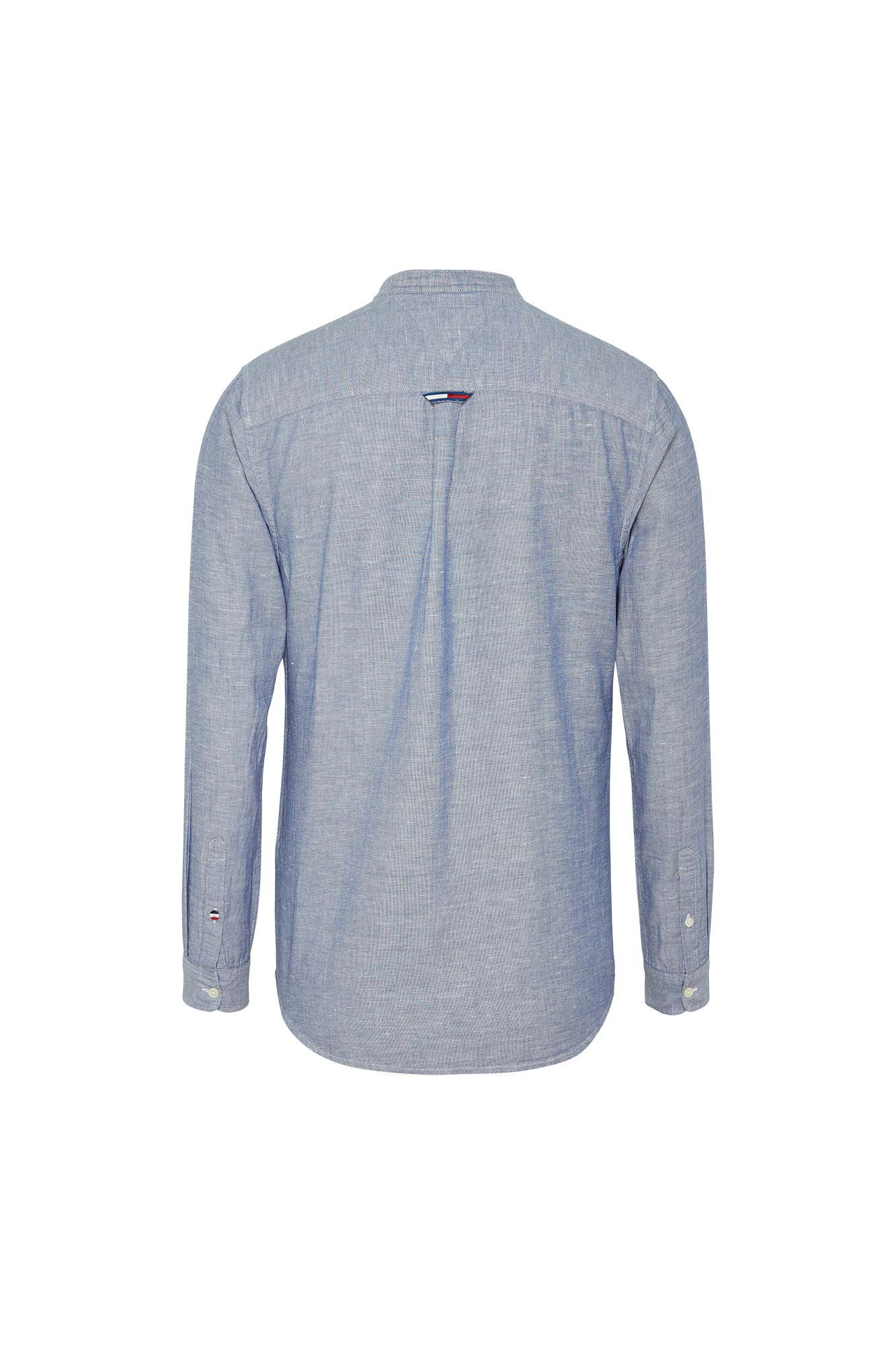 Mao linen shirt DM0DM06555, BLACK IRIS