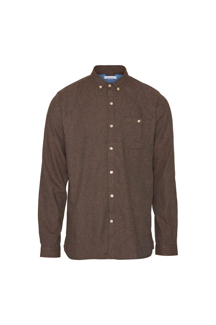 Melange Effect Flannel 90430, DARK EARTH