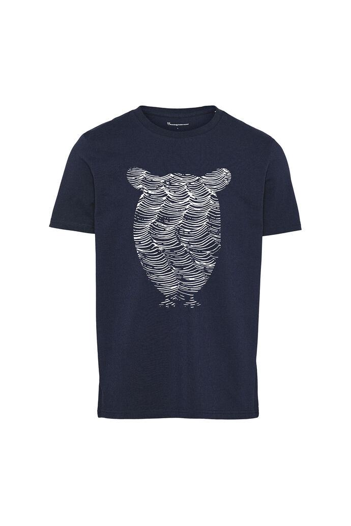 Alder tee owl wave print