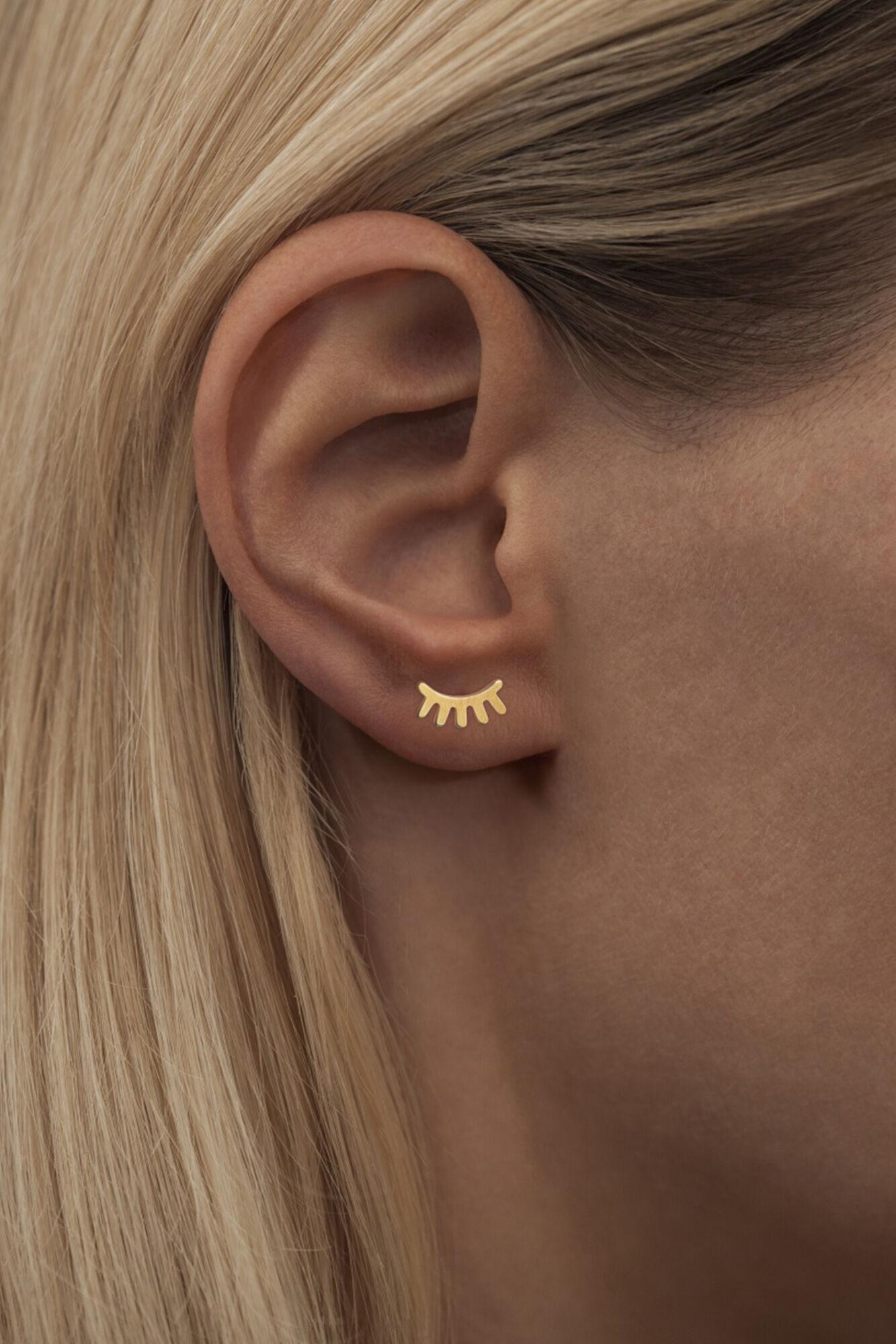 Blink Ear Studs LULUE150, GOLD MATTE