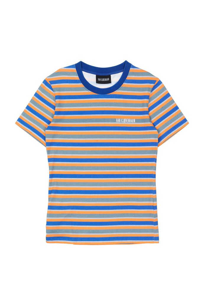 Casual tee F-130147, BLUE STRIPE