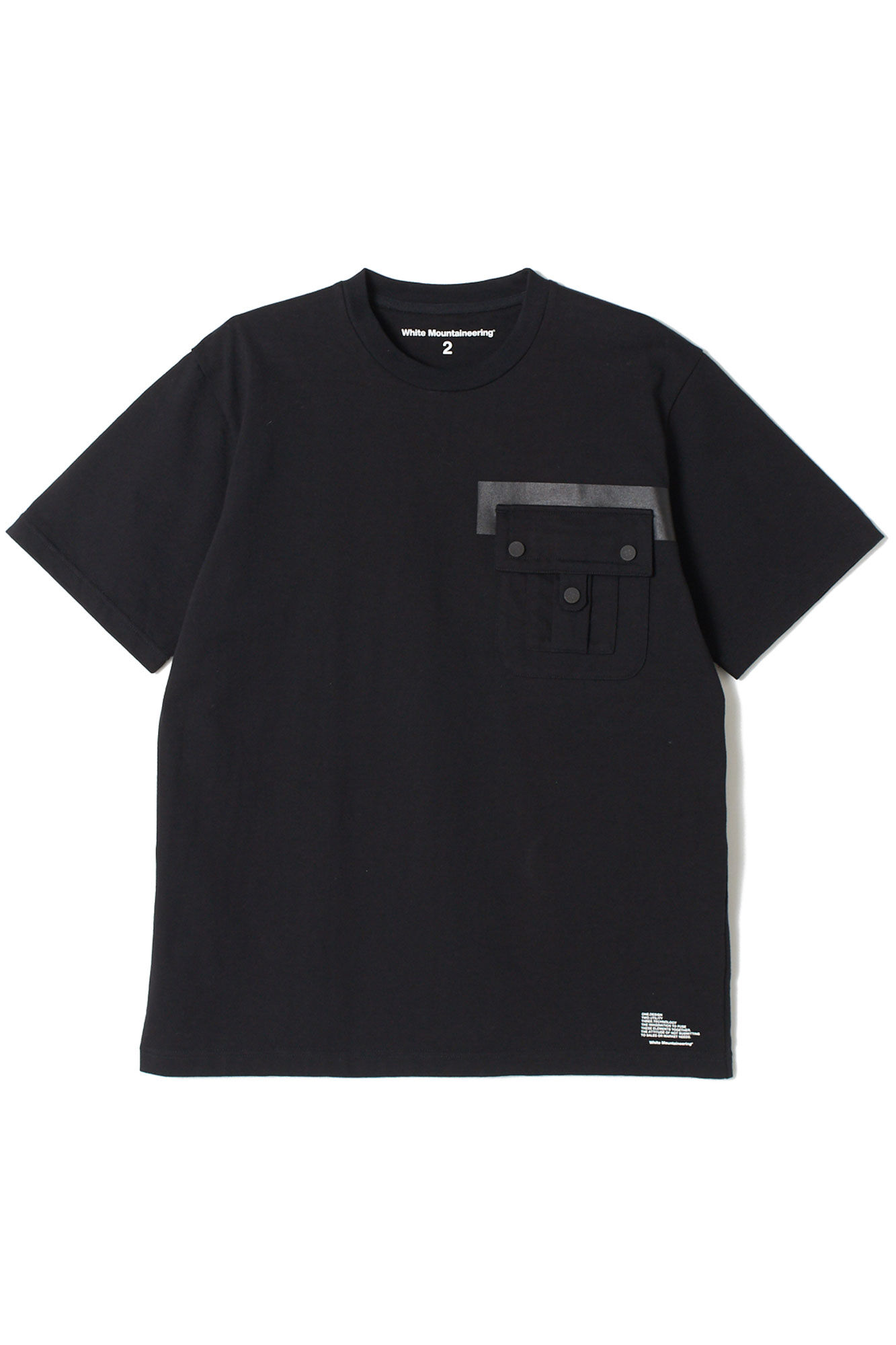 Big pocket tshirt WM1973504, BLACK BLCK