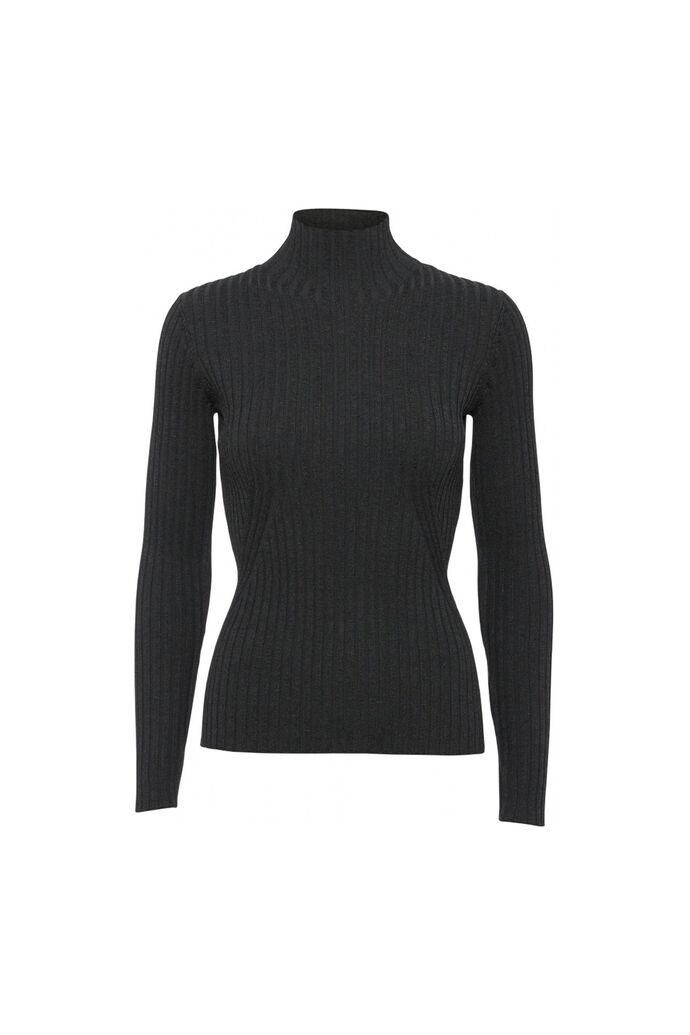 Karlina knit top 11861413, DARK GREY MELANGE
