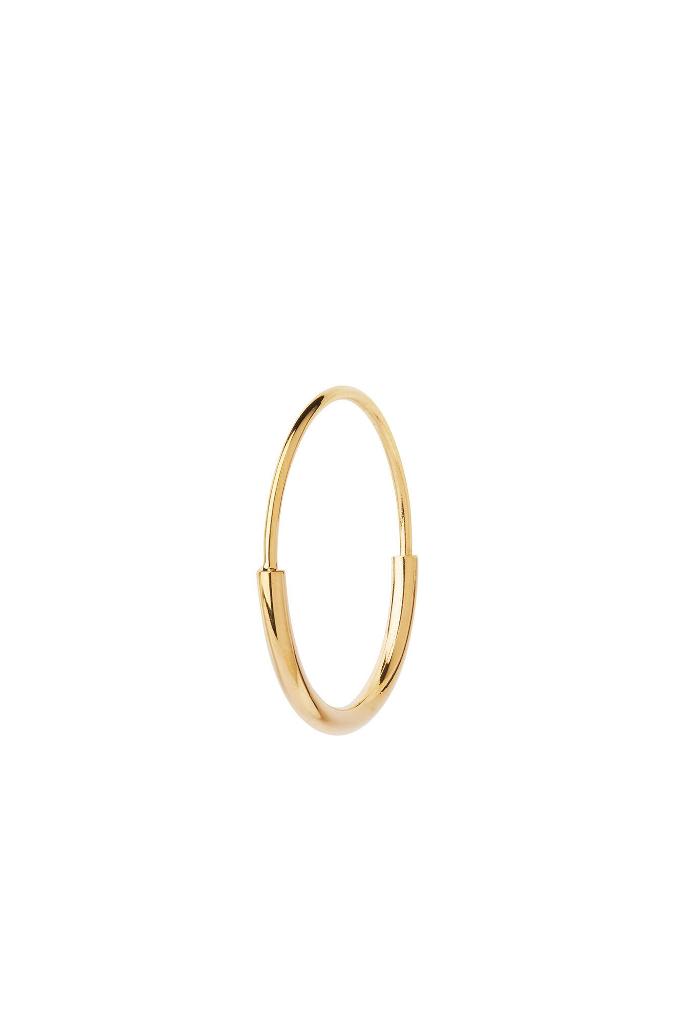Delicate hoop 18 earring, GOLD