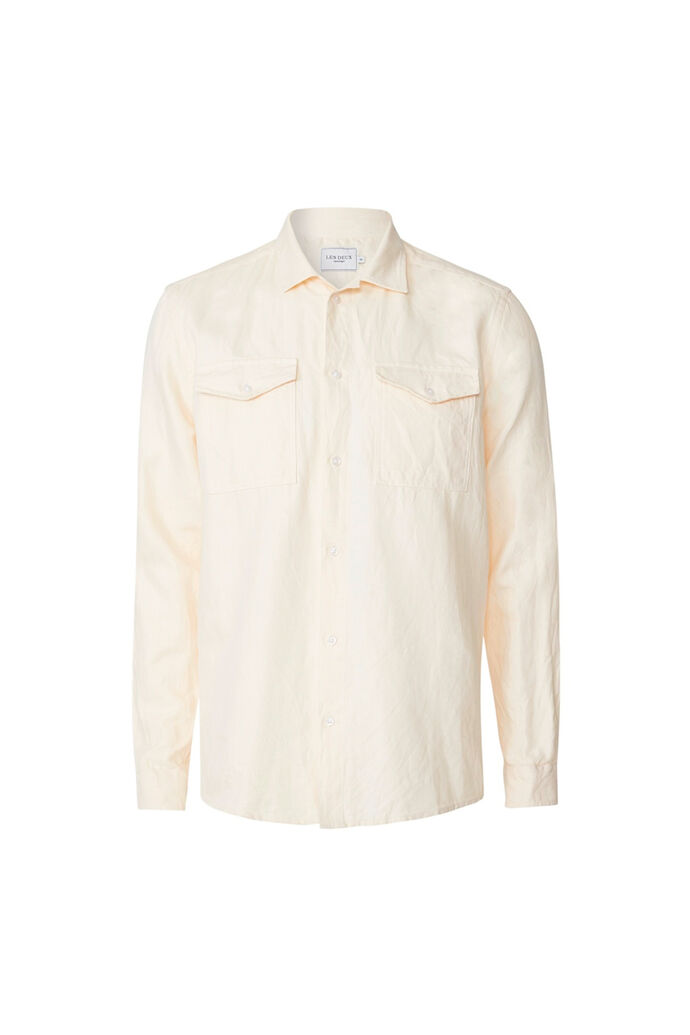 Liam twill overshirt LDM410066, OFF WHITE