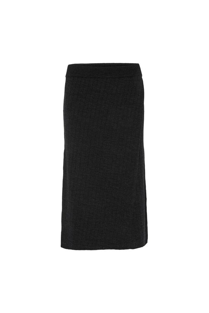 Randi knit skirt, DARK GREY MELANGE