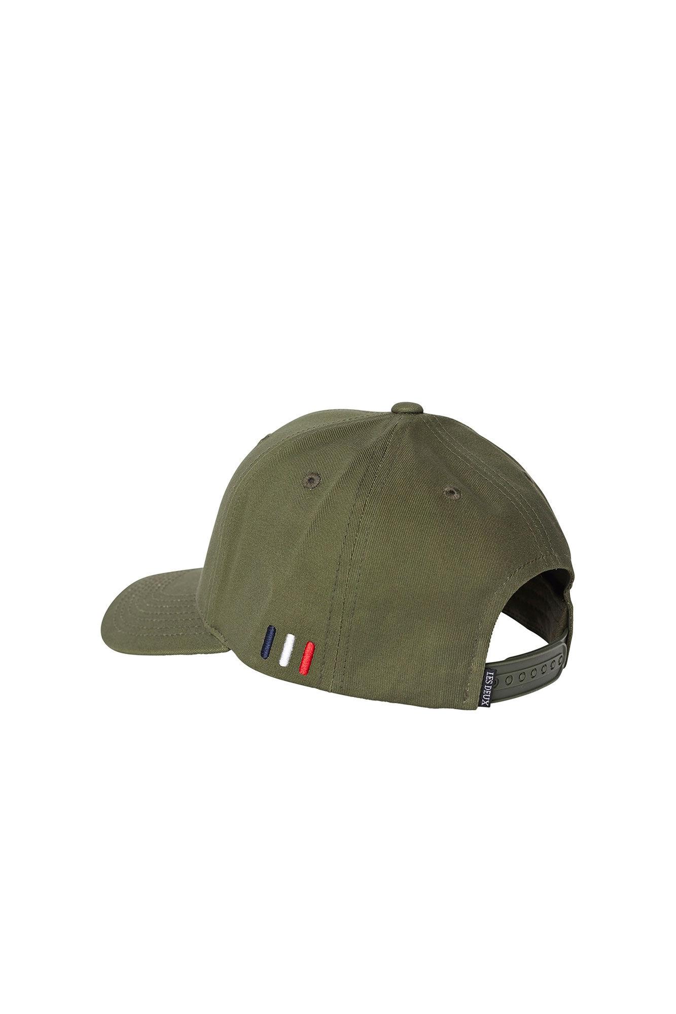 Piece baseball cap LDM702022, DARK OLIVE GREEN/BURNT ORANGE