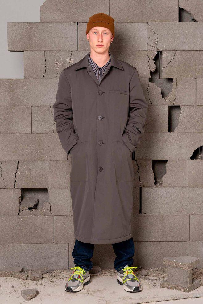 Square coat M-120083, GREY COTTON