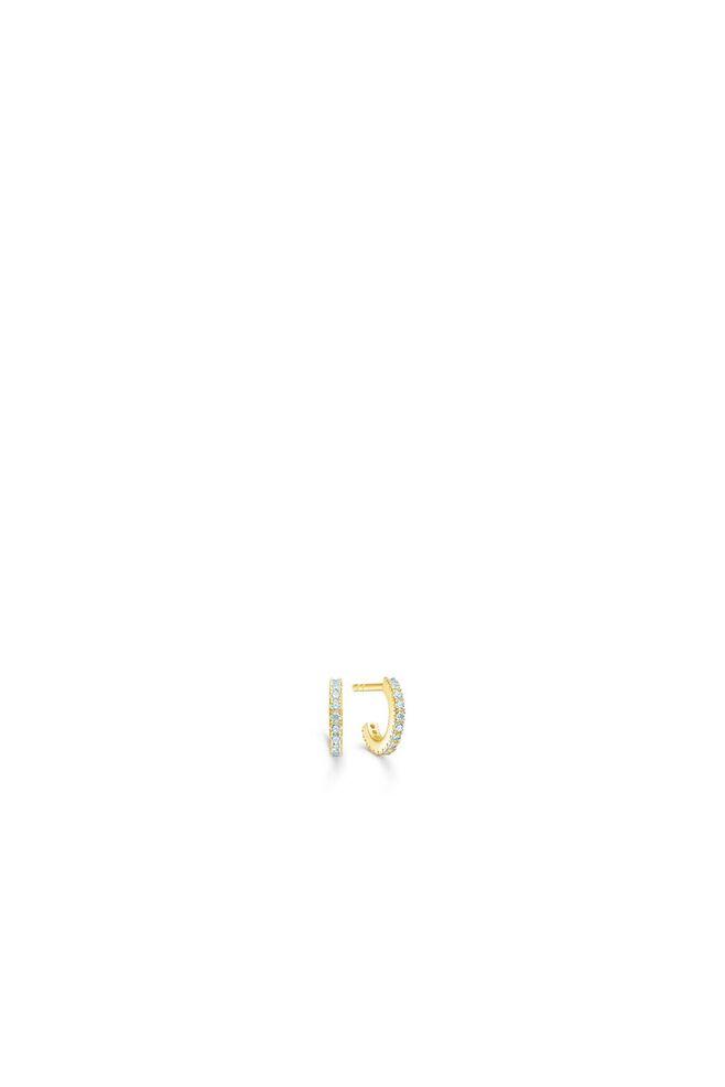 Simplicty hoops IDH010RH, RHODIUM/GREEN