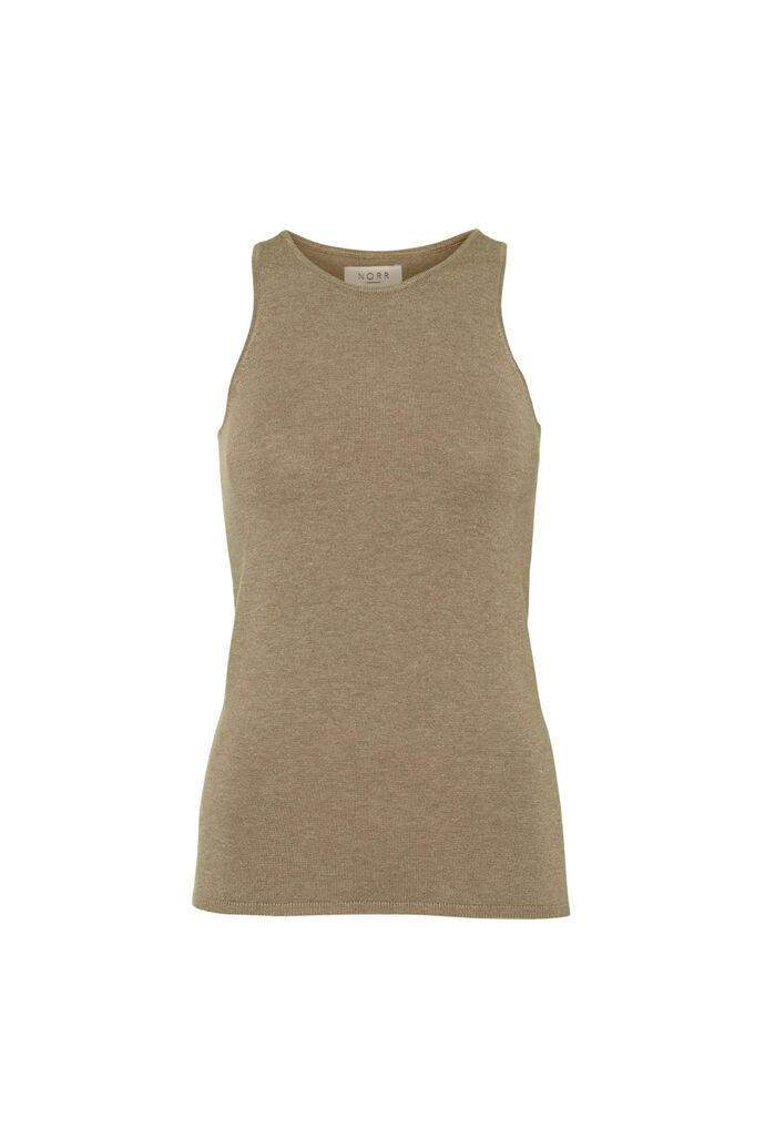 Chelsea knit tanktop 11861500, LIGHT BROWN MELANGE