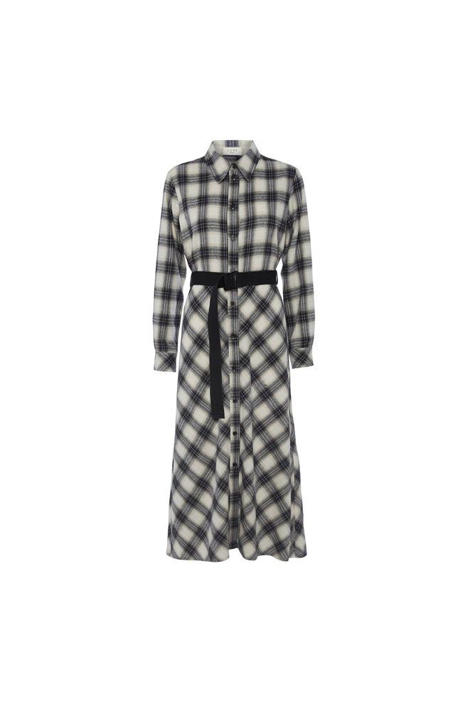 Nyla dress 11861402, NAVY CHECK