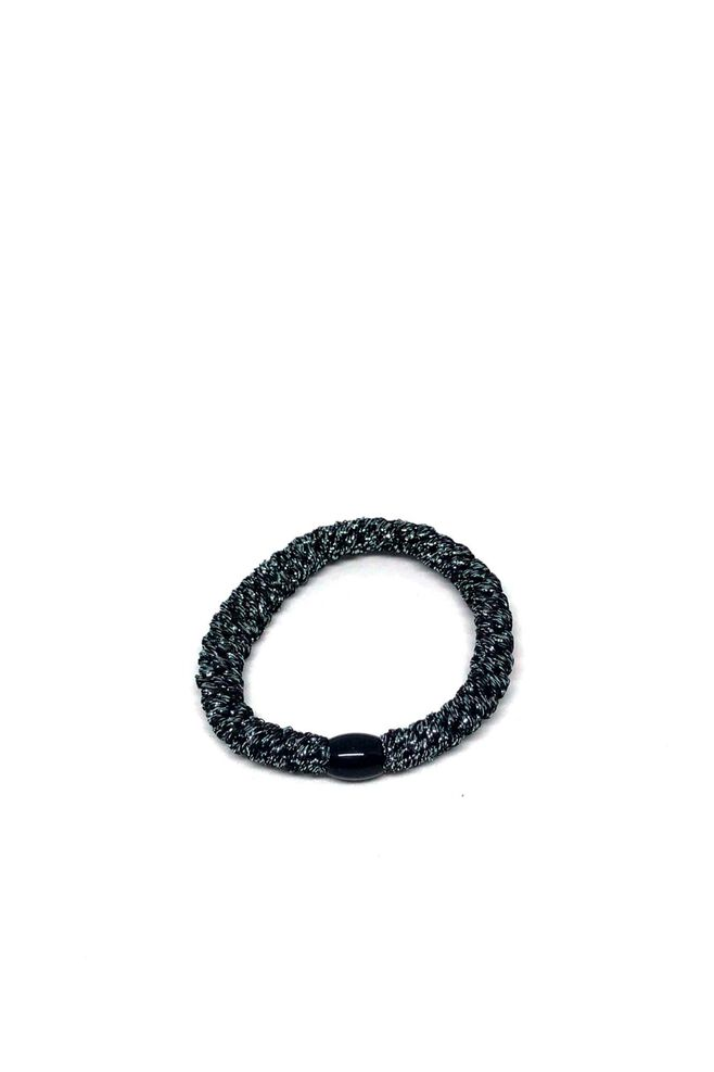 Bystær hairties 9799102, GLITTER BLACK/SILVER METALIC