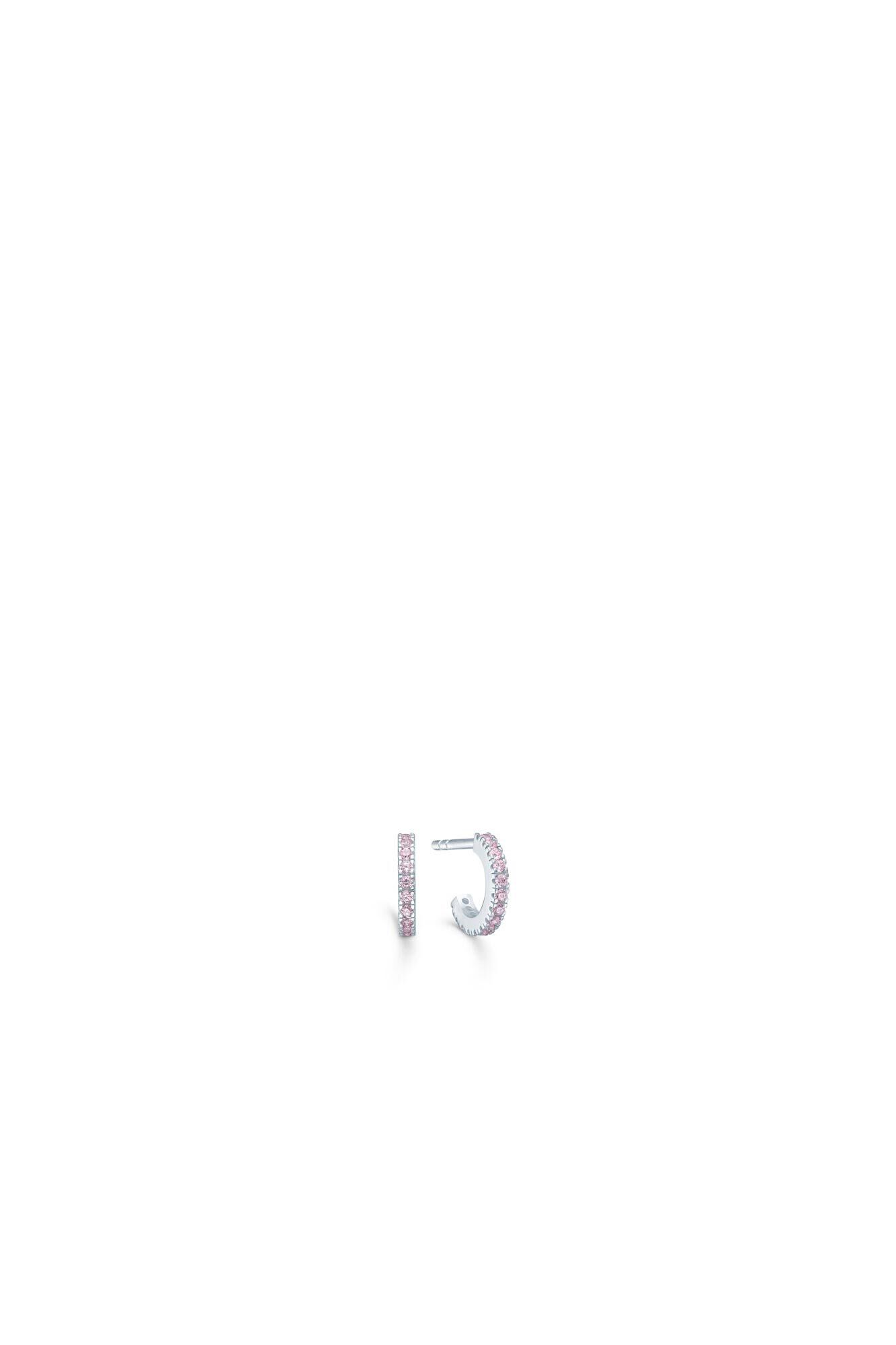 Simplicity mini hoops IDEH009R, RHODIUM/PINK