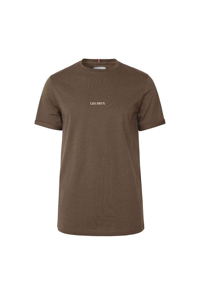 Lens t-shirt LMD101046, TURTLE GREEN/OFF WHITE