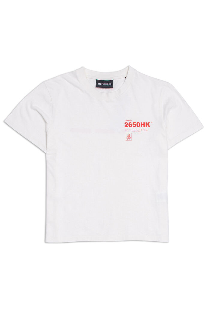 Artwork tee F-130081, OFF WHITE