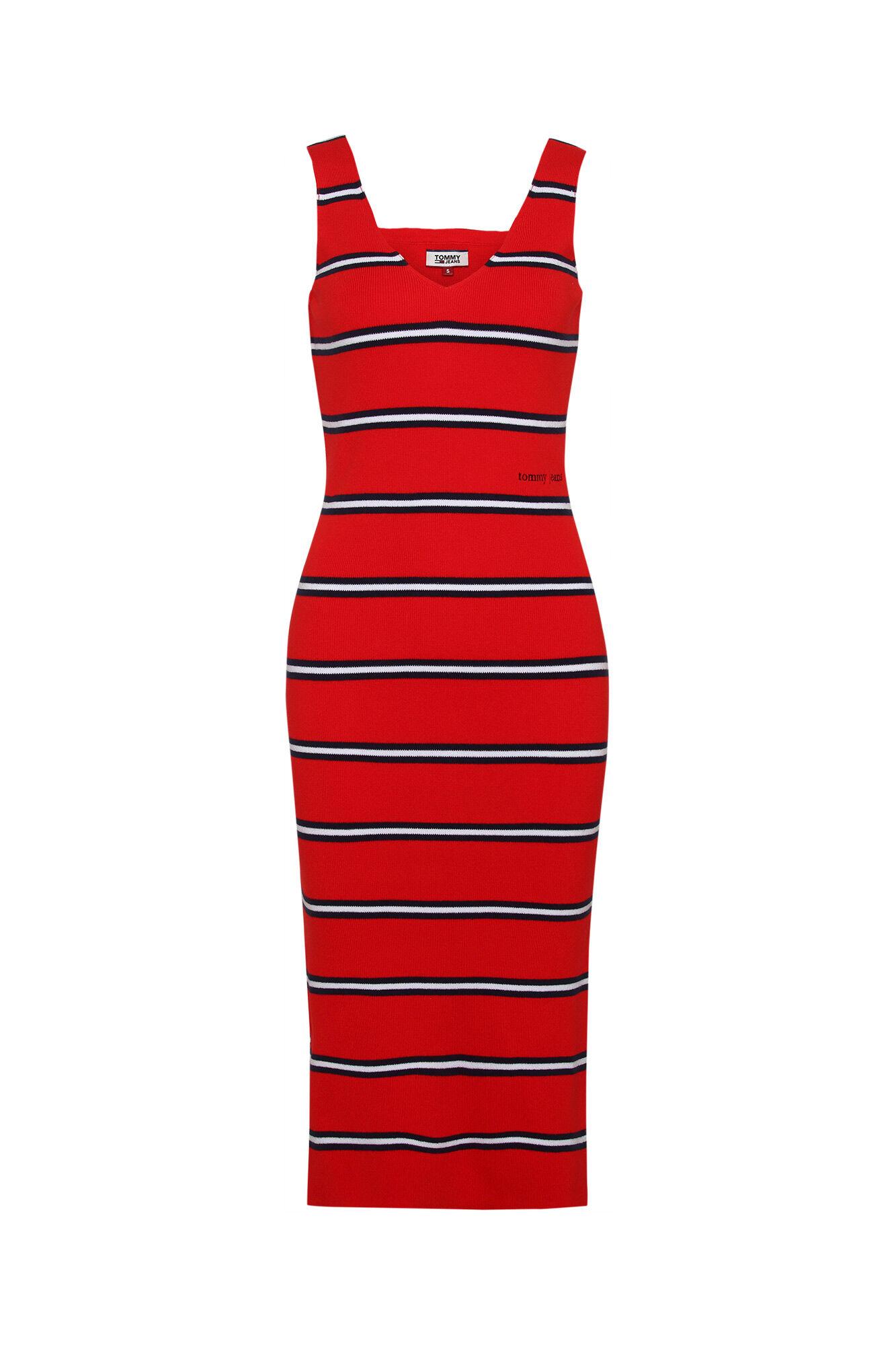 Knitted stripe DW0DW06729, FLAME SCARLET/MULTI