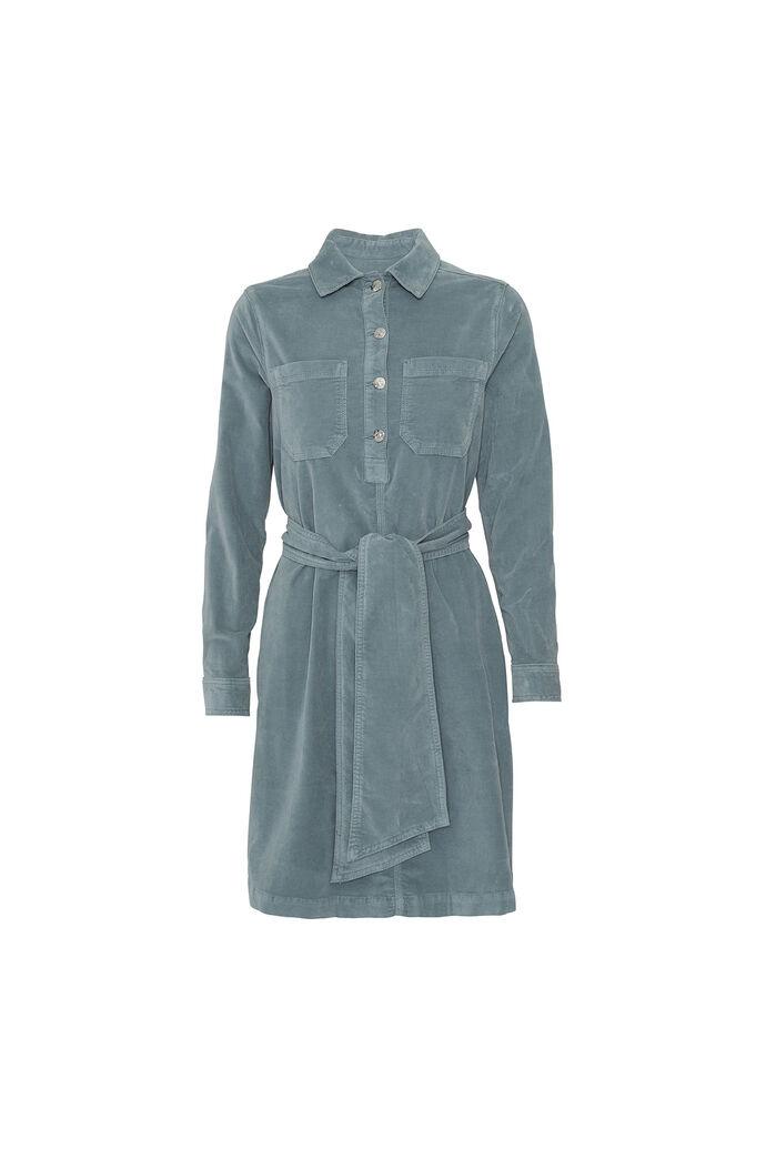 Anna velvet dress 86089, LEAF
