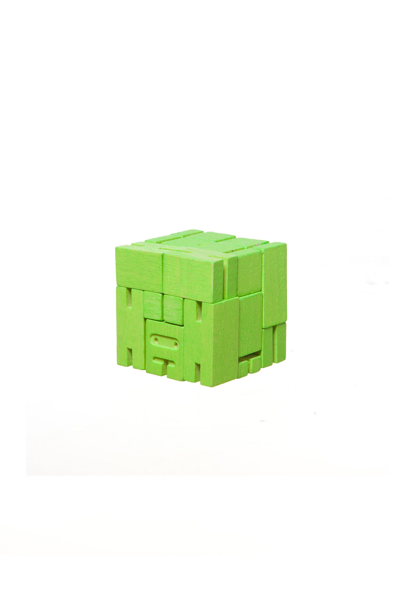 Cubebot small 3d puzzle, GREEN