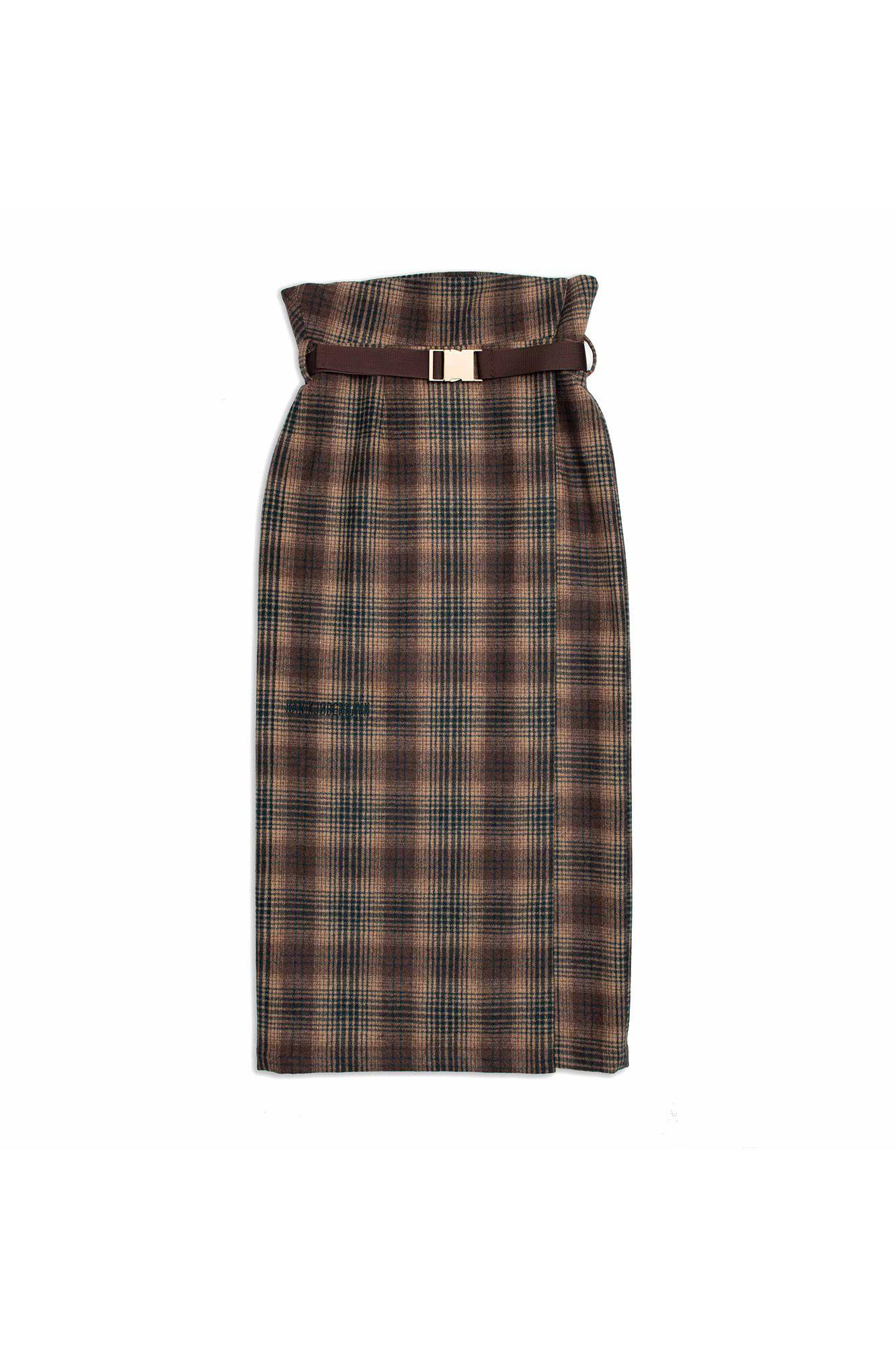 Buckle skirt f-120051