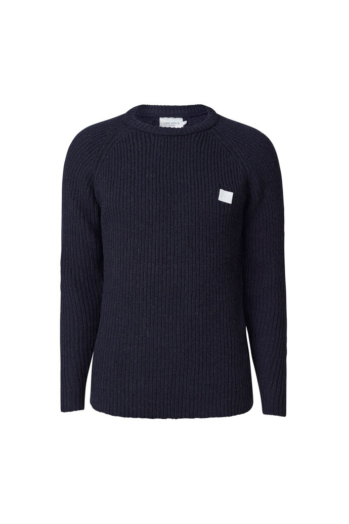 Piece wool knit LDM301024, DARK NAVY