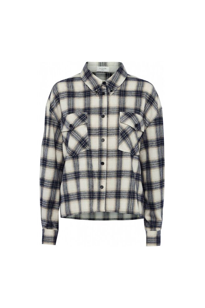Nyla shirt 11861332, NAVY CHECK