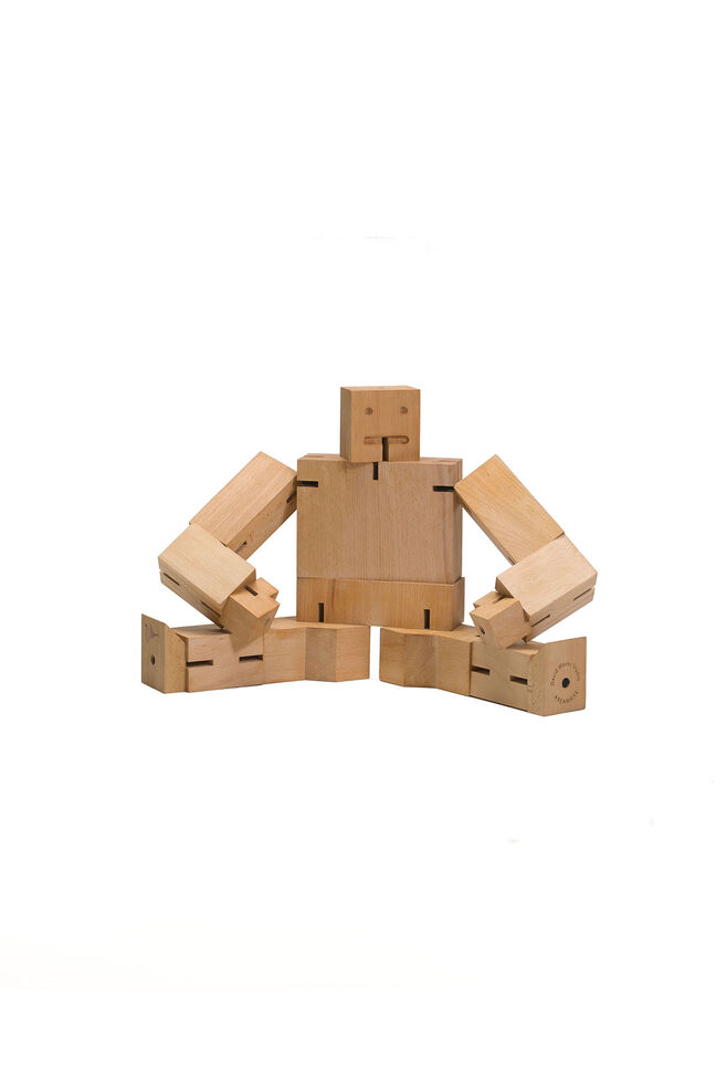 Cubebot julien small 3d puzzle, NATURAL