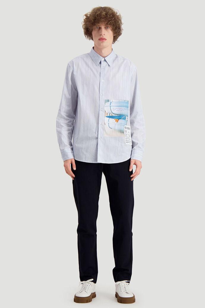Habitt shirt, BLUE STRIPE