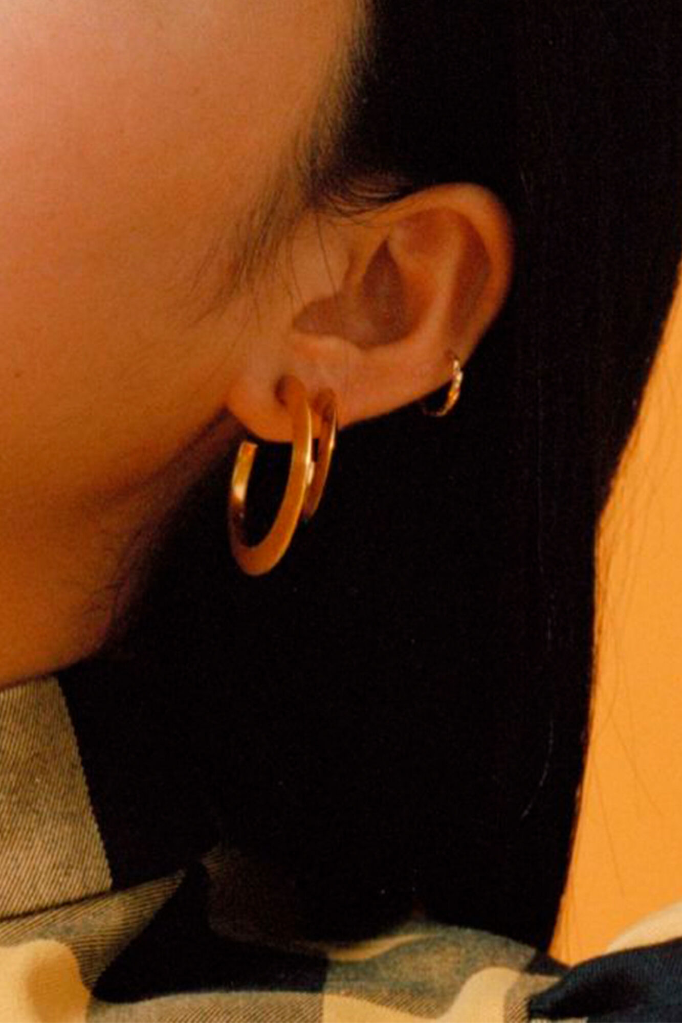 Else Hoop Medium Earring, GOLD HP