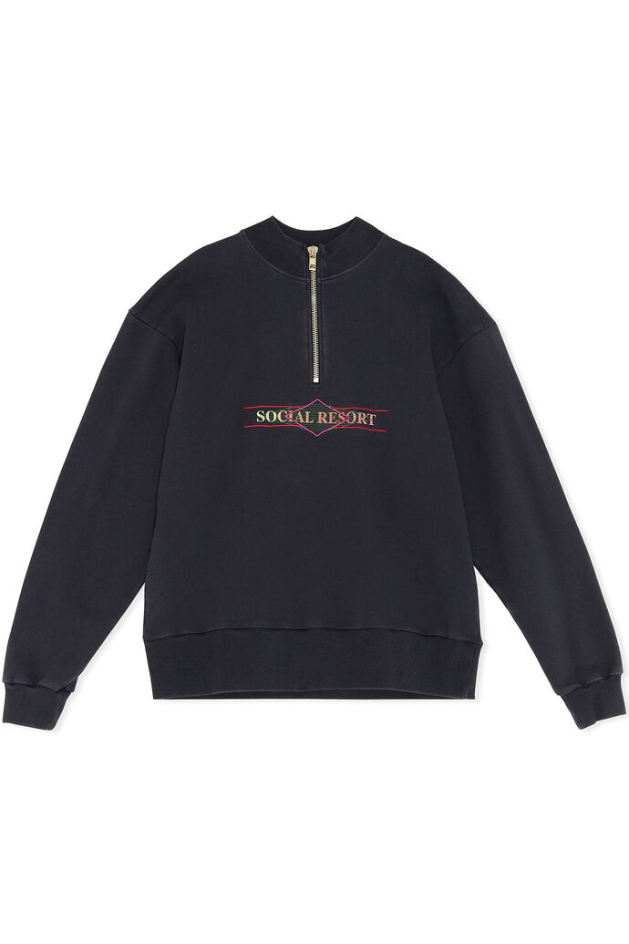 Half zip sweat M-130156