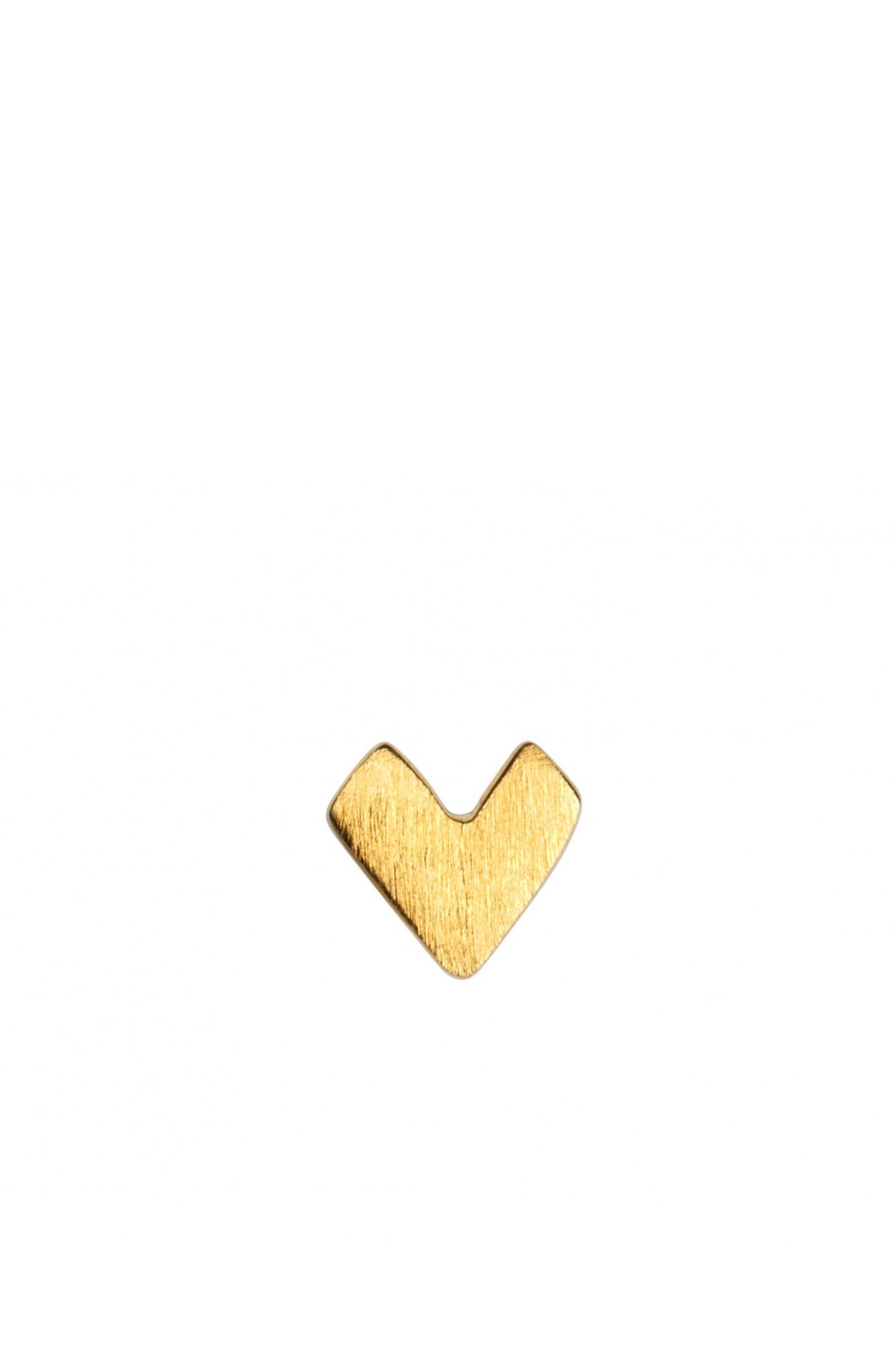 Pixel Love Ear Studs LULUE166, GOLD MATTE