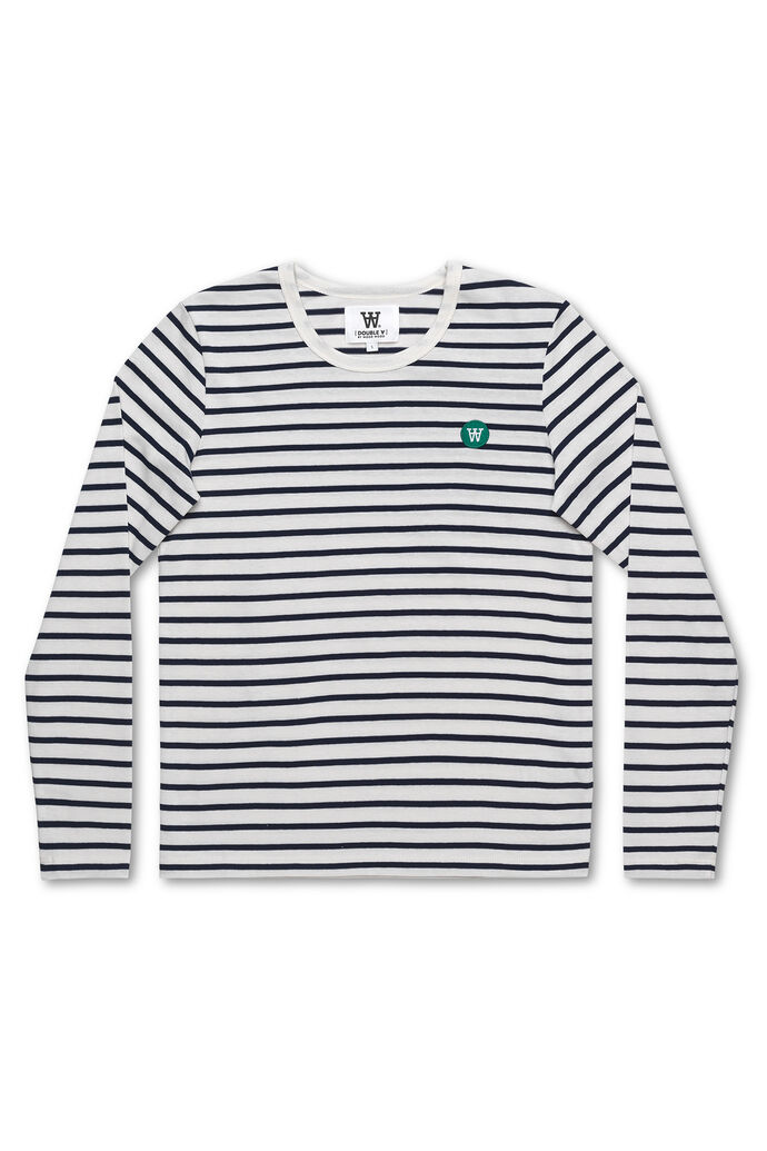 Moa long sleeve, OFF-WHITE/NAVY STRIPES