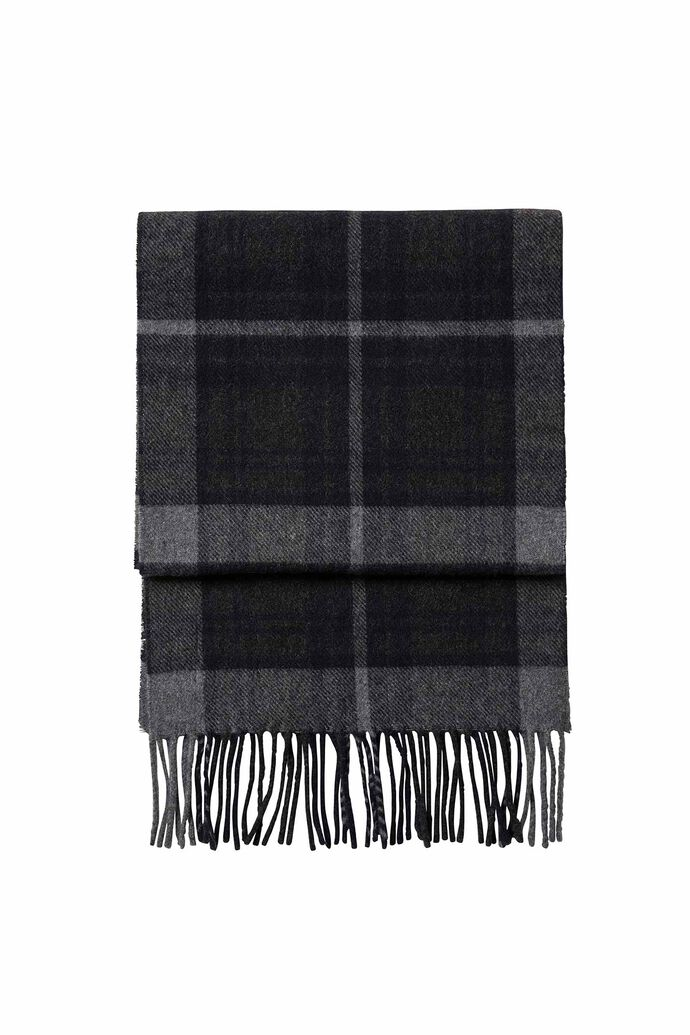 Scarf Two 9134, NAVY CHECK