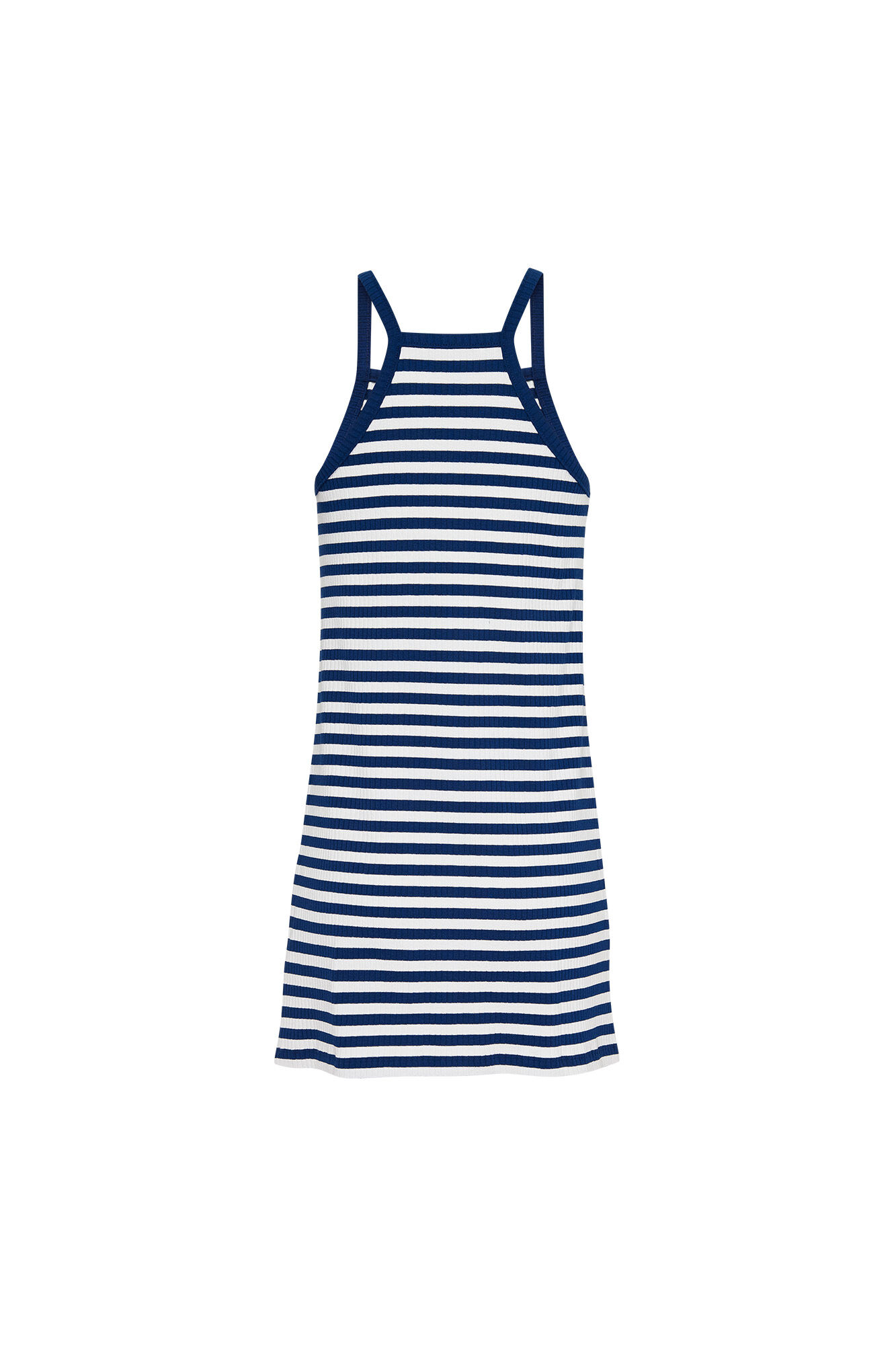 Summer racer neck DW0DW06669, ESTATE BLUE/CLASSIC WHITE