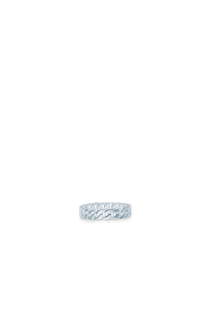 Curb chain ring small, RHODIUM