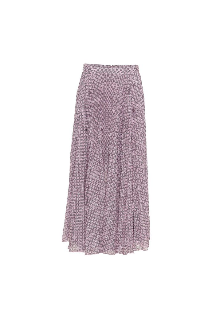 Nessa skirt, AOP PINK CHAIN
