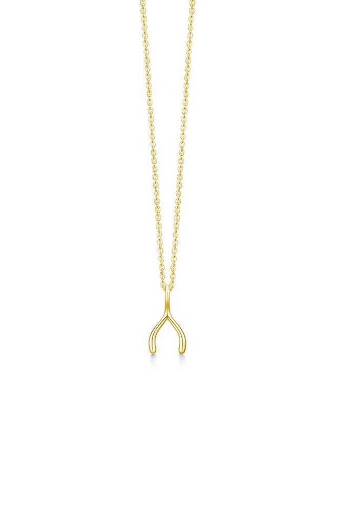 Wishbone necklace IDN004GD, GOLD