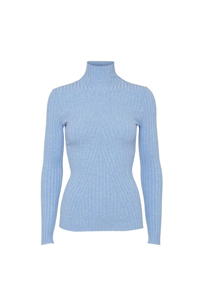 Chelsea ls knit top 11861502, LIGHT BLUE MELANGE
