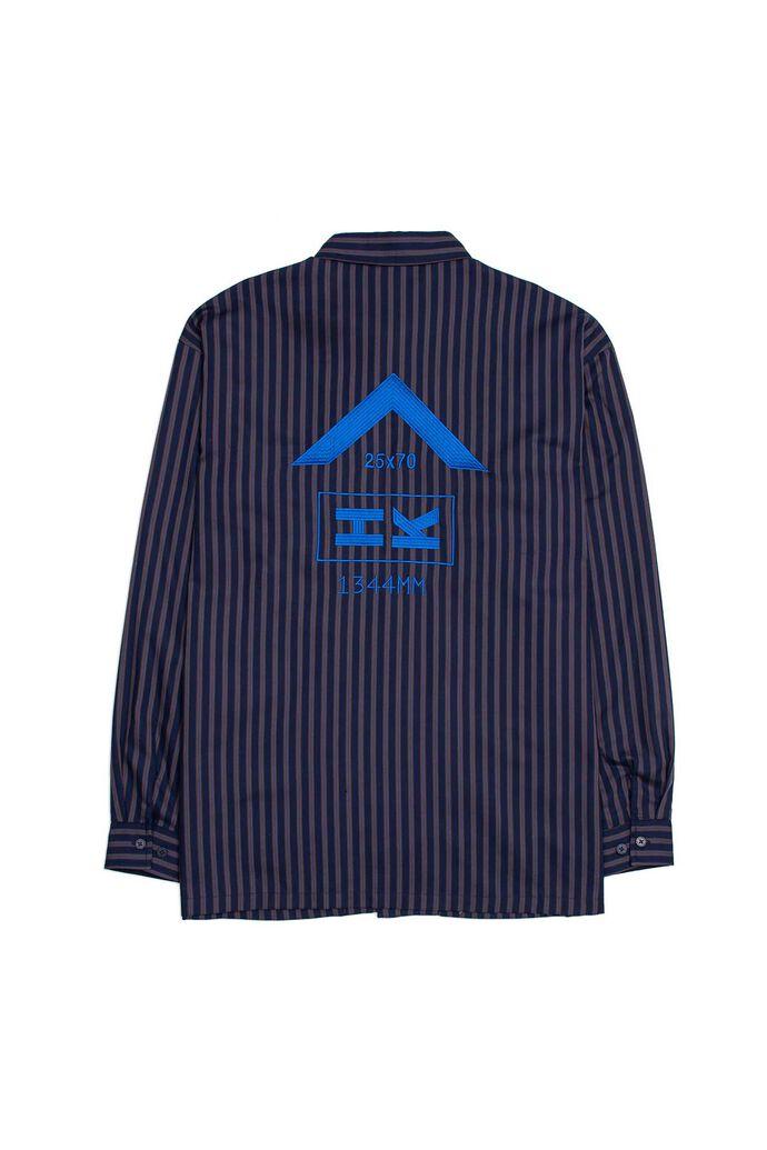 Shirt jacket M-130013, NAVY STRIPE