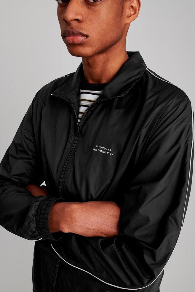 Everett track jacket, BLACK
