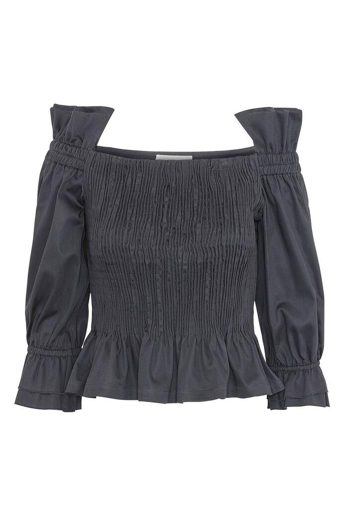 Ciola smoke blouse, GRAPHITE