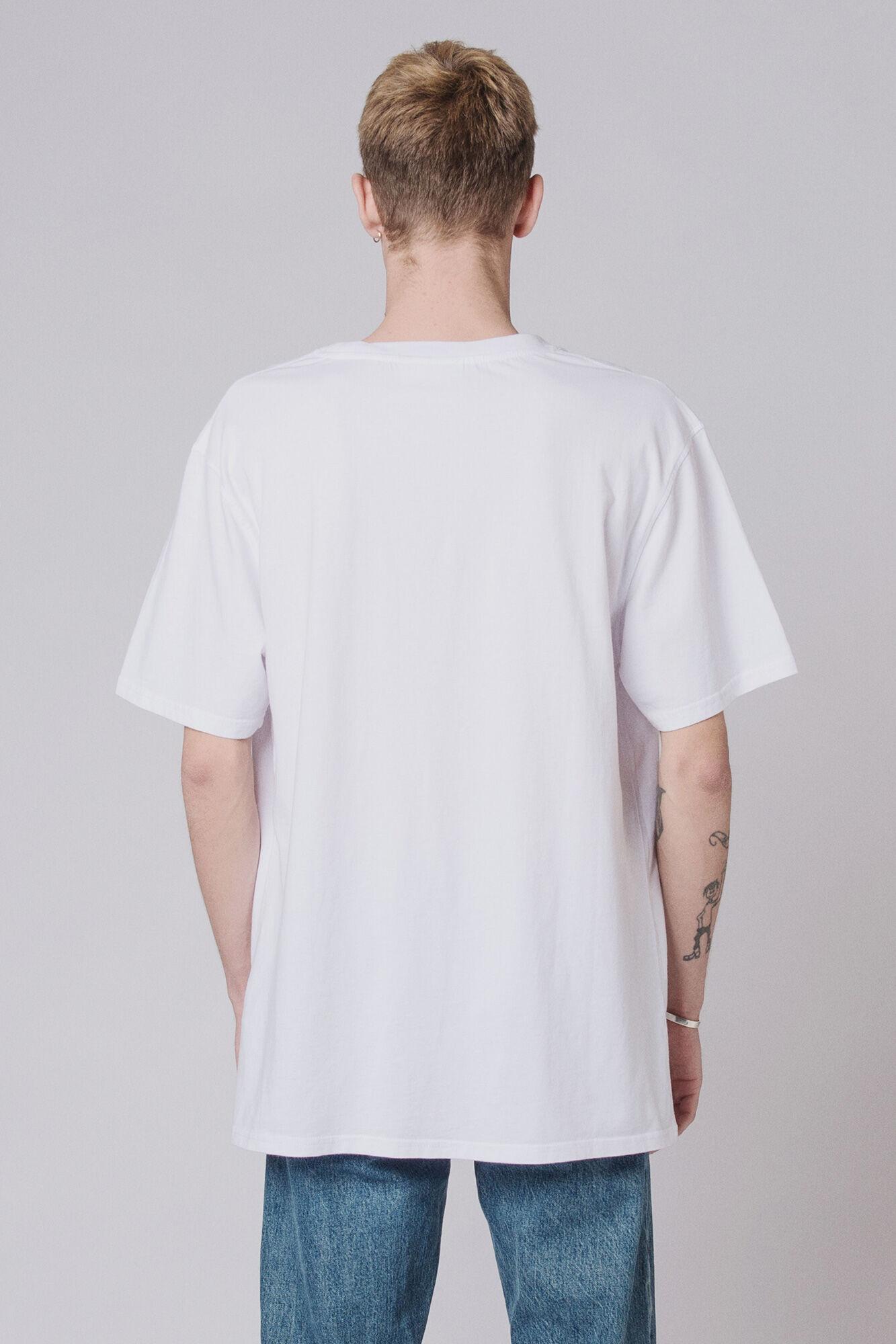 Boxy tee M-90101, WHITE
