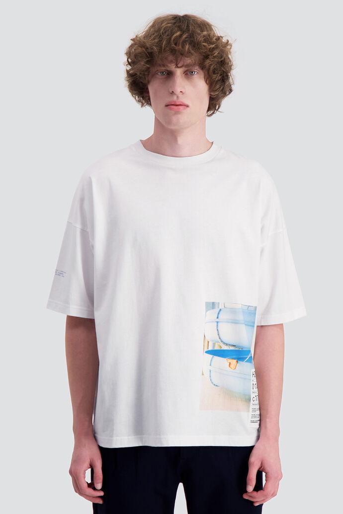 Toyenbadet t-shirt, WHITE