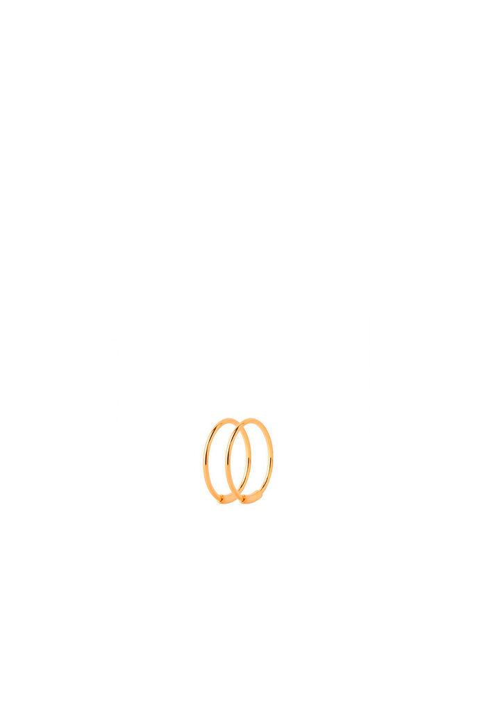 Basic Hoop S Earring 100217, GOLD HP