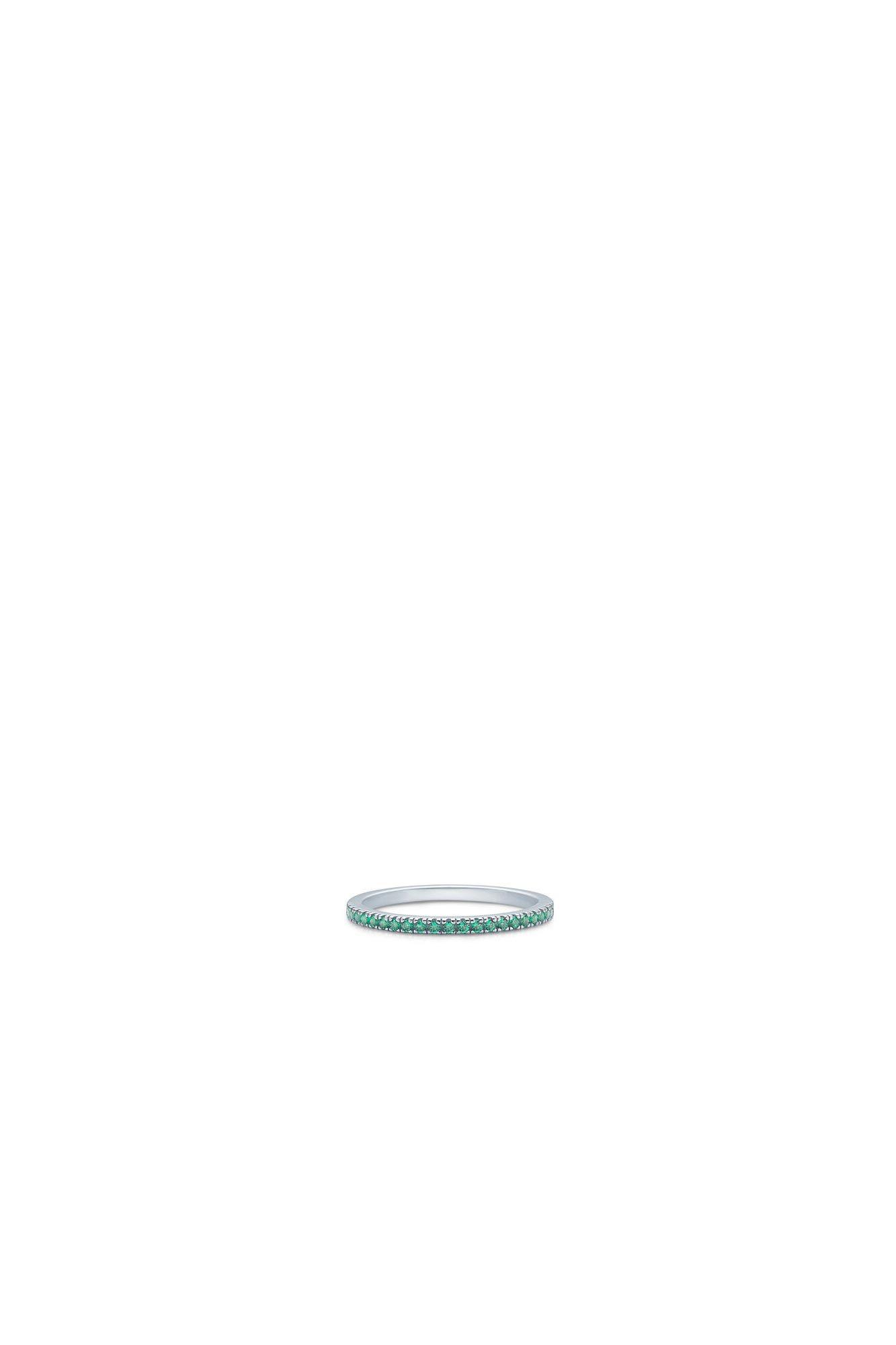 Simplicity IDR012RH, RHODIUM/GREEN