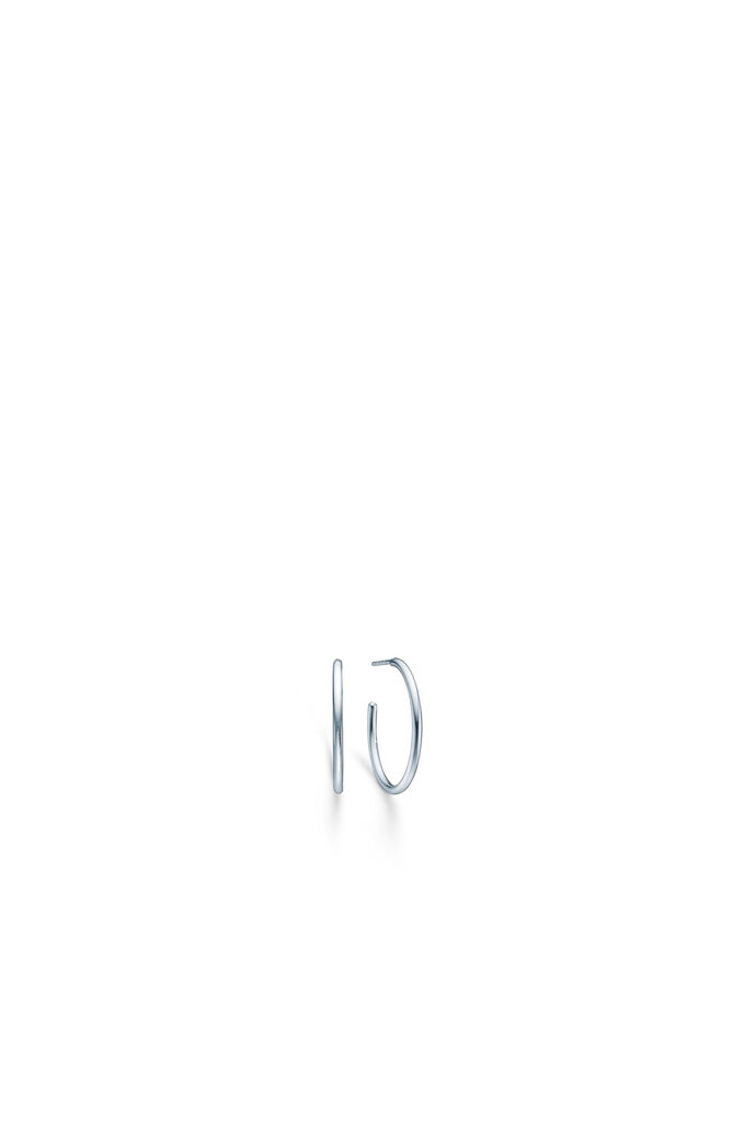 Dash medium hoops IDH025RH, RHODIUM