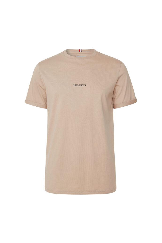 Lens t-shirt LMD101046, DARK SAND/BLACK