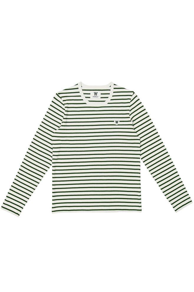 Moa long sleeve 10931506-2323, DARK GREEN/OFF WHITE STRIPE