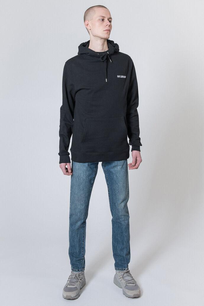 Casual Hoodie M-40002, BLACK LOGO