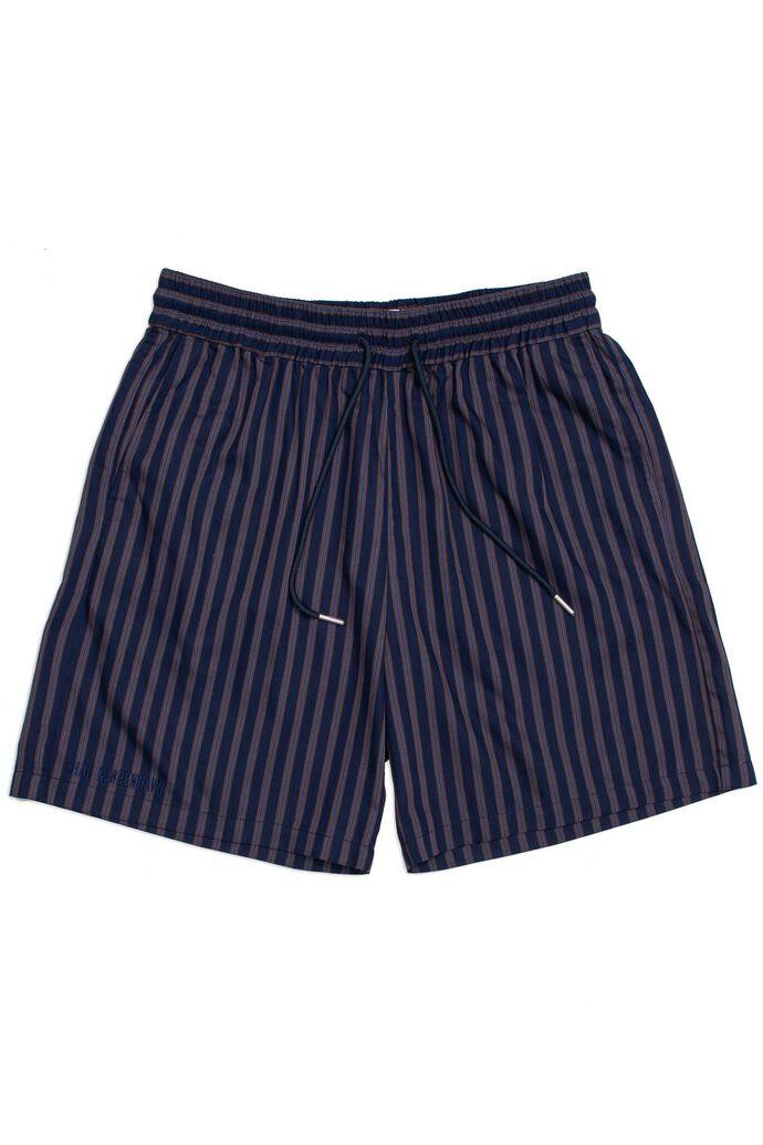 Track shorts M-130056, NAVY STRIPE
